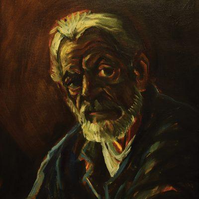 Vladimir Georgievski, Self-portrait oil on canvas