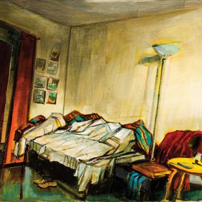 A corner of my Paris studio, oil on canvas, 65 x 55 cm, 2005