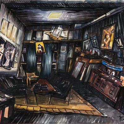 My studio, aquarelle, 116 x 97 cm, 1996